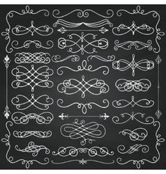 Chalk Drawing Vintage Hand Drawn Swirls vector image