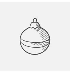 Christmas-tree decoration sketch icon vector image vector image