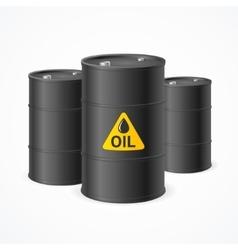 Oil Barrel Drums vector image vector image
