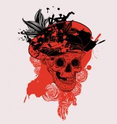 russian skull vector image