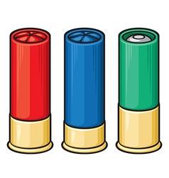 Shotgun shells vector image