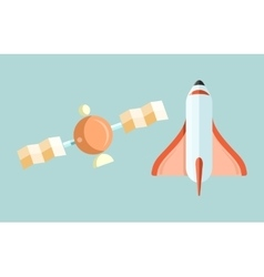 Space Shuttle and Astronomy Web Page vector image vector image