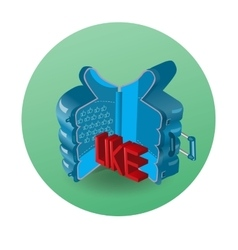 The symbol like in a suitcase for fans to travel vector image