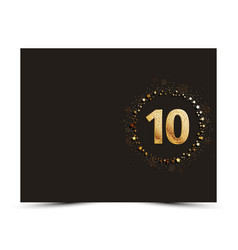 10 years anniversary card vector