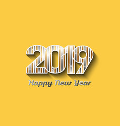 2019 new year in gold and silver colors vector image