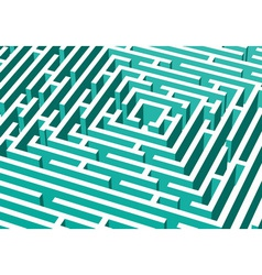 3d labyrinth vector image