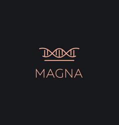 Abstract crown dna logo icon design modern minimal vector