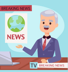 anchorman breaking news and tv vector image
