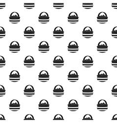 Basket of berries pattern simple style vector image