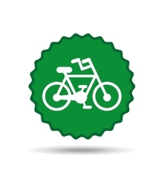 bicycle seal design vector image