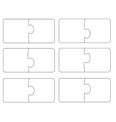 Blank template puzzle A vector
