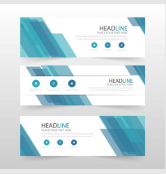 Blue abstract corporate business banner template vector