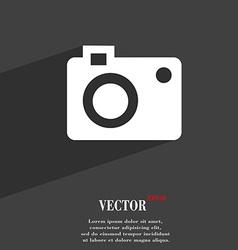 camera symbol Flat modern web design with long vector image