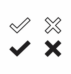check and error icons vector image