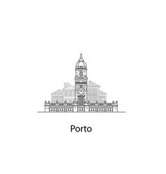 City porto european houses vector