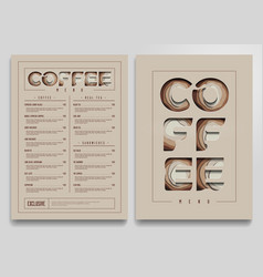 coffee shop menu template vector image