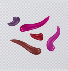 Collection of smears lipstick isolated on vector