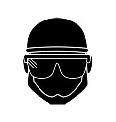 Construction worker icon vector