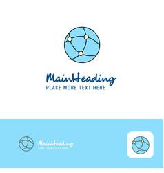 creative global network logo design flat color vector image