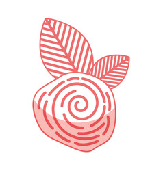 cute flower rose icon vector image