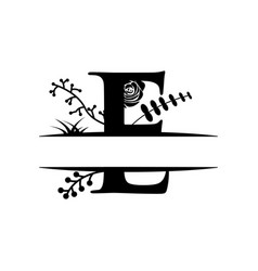 decorative monogram split letter graphic design vector image