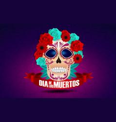 dia de los muertos skull culture vector image