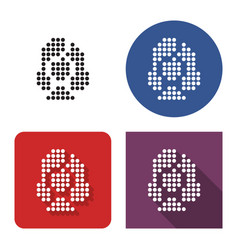 dotted icon female user picture in four vector image