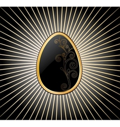 Easter Egg in black over vector image