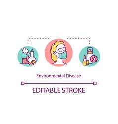 Environmental disease concept icon vector