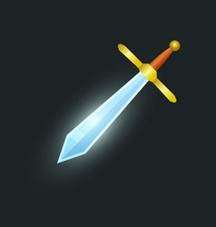 Epic sword isolated game element vector