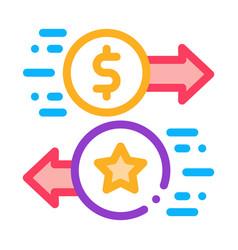exchange bonuses for money icon outline vector image