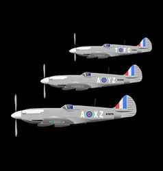 Fighters on patrol vector