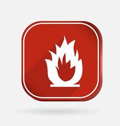 fire sign Color square icon vector image