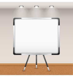 Flip Chart In Interior vector image