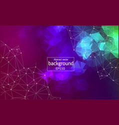 Geometric polygonal background molecule and vector