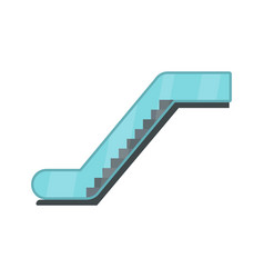 Glass escalator icon flat style vector
