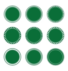 Green Decorative Stamp Set vector image