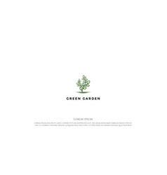green tree plant for nature garden environment vector image