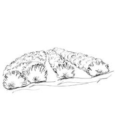Hand drawn doodle landscape Fields vector image