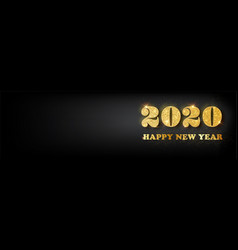 happy new year 2020 bannergolden luxury vector image