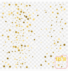 Holiday background with little golden stars vector