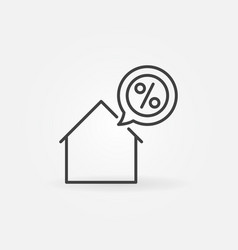House with discount icon vector