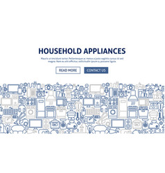 Household appliances banner design vector