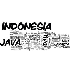 Java indonesia text background word cloud concept vector