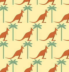 Kangaroo and Palma seamless pattern Australian vector image