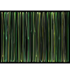 Liquid organic green yellow lines pattern vector