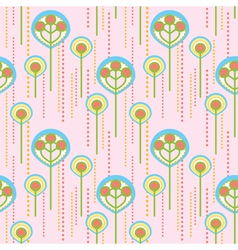 lollipop trees pattern vector image