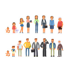 man and woman character vector image