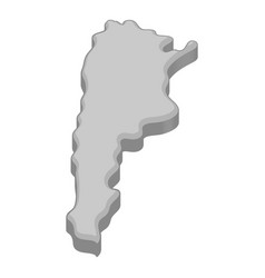map of argentina icon monochrome vector image