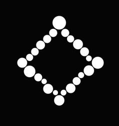 Minimal black and white circle frame background vector
